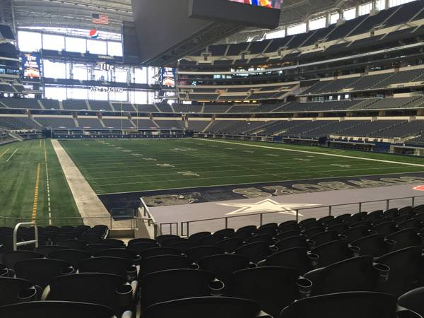 Seat view from section 150 at AT&T Stadium, home of the Dallas Cowboys