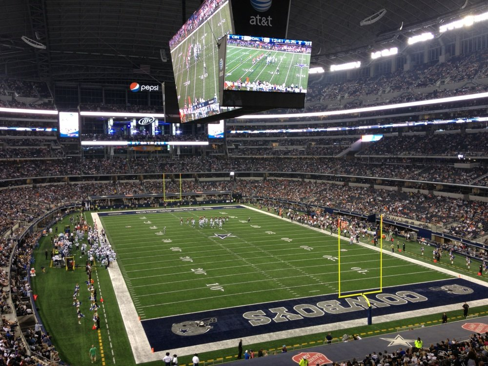Seat view from section 201 at AT&T Stadium, home of the Dallas Cowboys