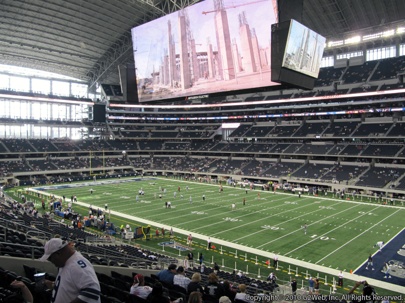 Seat view from section 204 at AT&T Stadium, home of the Dallas Cowboys