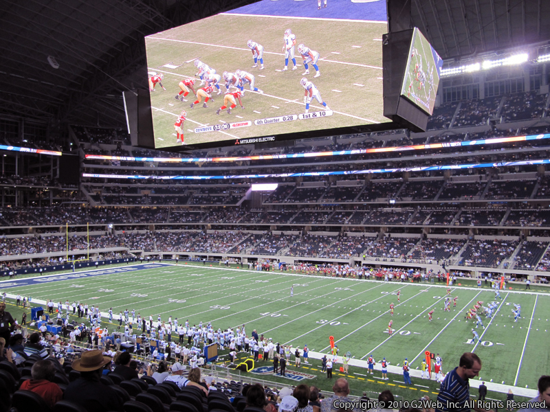 Seat view from section 206 at AT&T Stadium, home of the Dallas Cowboys