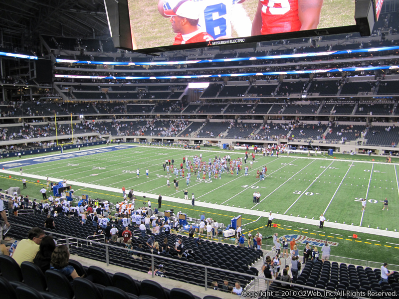 Seat view from section 207 at AT&T Stadium, home of the Dallas Cowboys