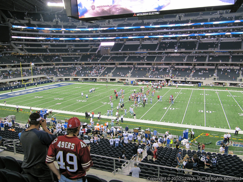 Seat view from section 208 at AT&T Stadium, home of the Dallas Cowboys
