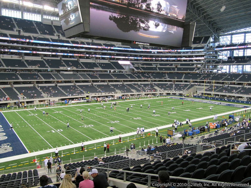 Seat view from section 215 at AT&T Stadium, home of the Dallas Cowboys