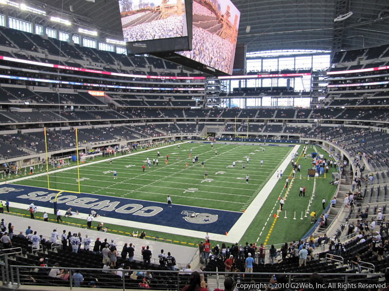 Seat view from section 219 at AT&T Stadium, home of the Dallas Cowboys