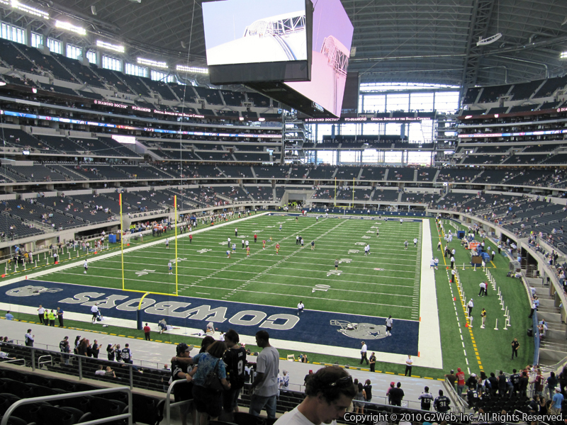 Seat view from section 220 at AT&T Stadium, home of the Dallas Cowboys