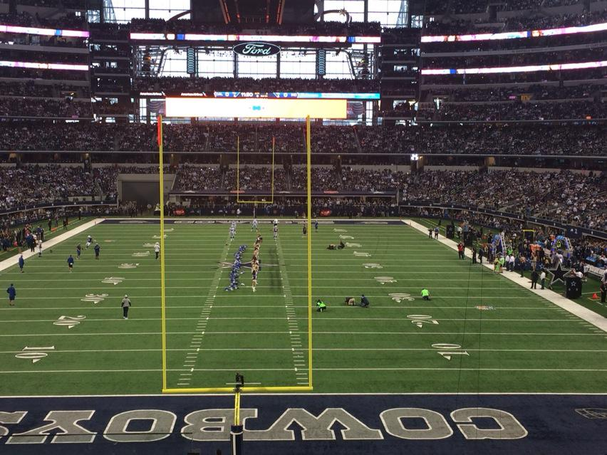 View from Section 222 at AT&T Stadium