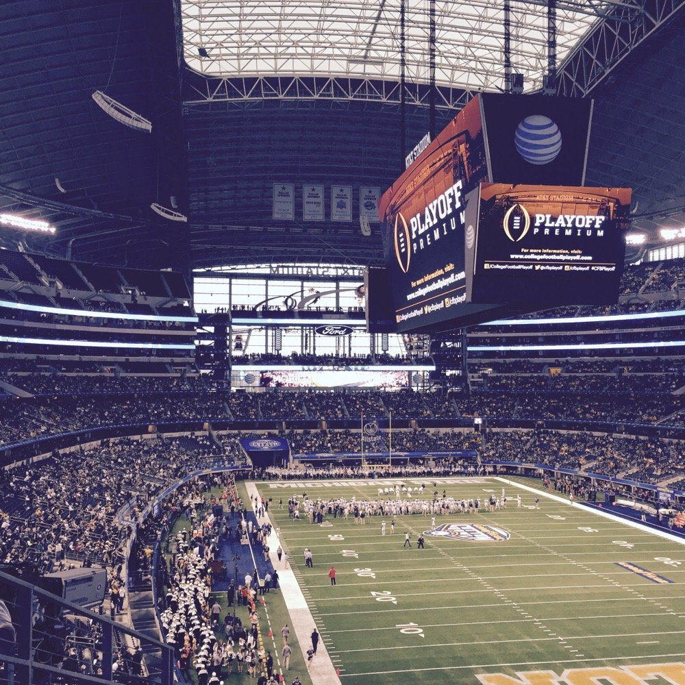 View from Section 225 at AT&T Stadium