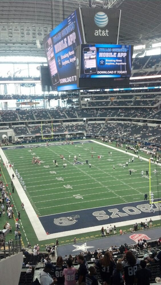 Seat view from section 226 at AT&T Stadium, home of the Dallas Cowboys