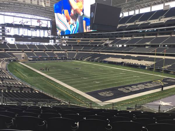 Seat view from section 227 at AT&T Stadium, home of the Dallas Cowboys