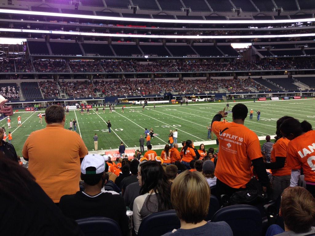 Seat view from section 113 at AT&T Stadium, home of the Dallas Cowboys