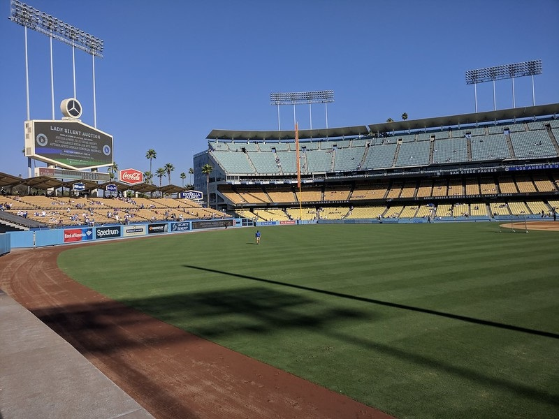 Photo taken from the home run seats at Dodger Stadium. Home of the Los Angeles Dodgers.