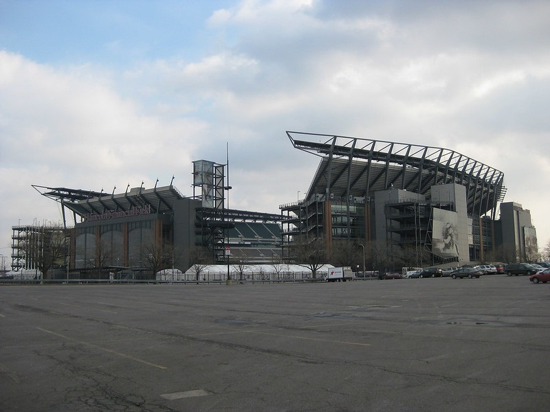 Exterior photo of Lincoln Financial Field, home of the Philadelphia Eagles.