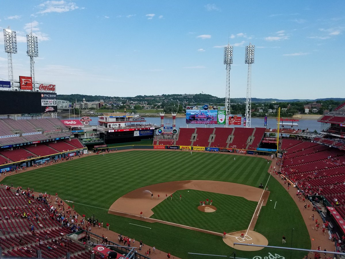Panoramic view of Great American Ball Park, home of the Cincinnati Reds.