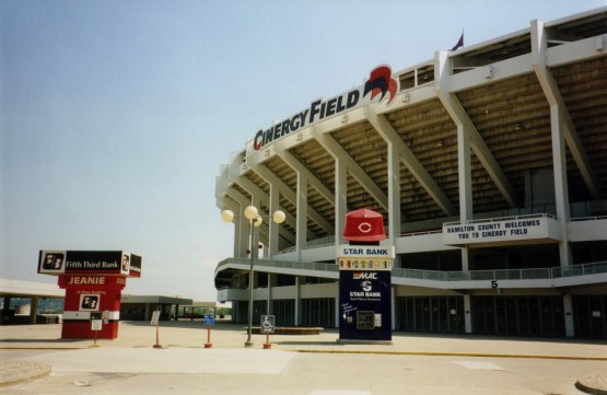 Photo of the Cinergy Field Entry Gate circa 1998.