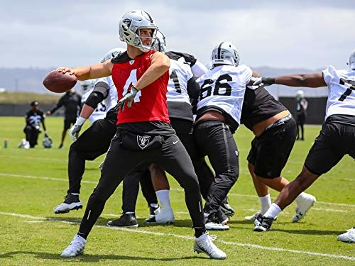 Photo of Raiders quarterback Derek Carr during a practice session.