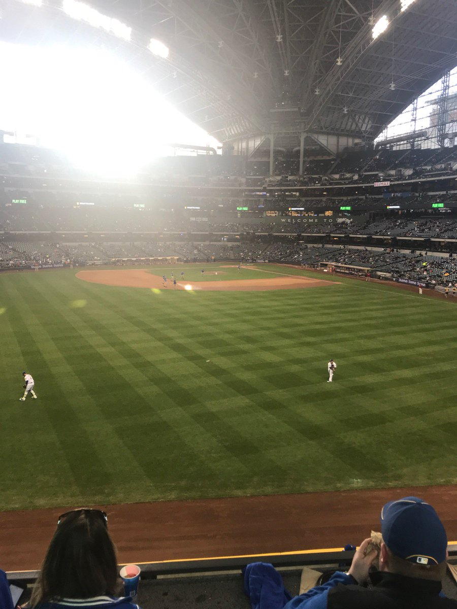 View from the Associated Bank Check Deck at Miller Park. Home of the Milwaukee Brewers.
