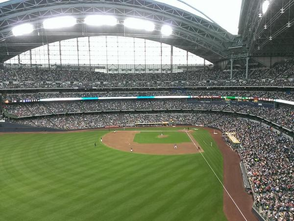 View from the Bernie's Terrace seats at Miller Park.