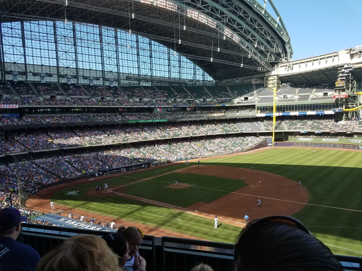 View from the club outfield seats at Miller Park. Home of the Milwaukee Brewers.