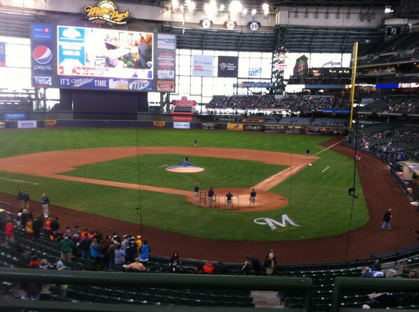 View from the loge seats at Miller Park. Home of the Milwaukee Brewers.