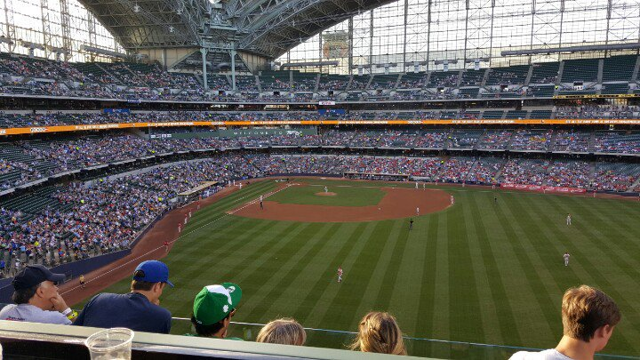View from the Miller Lite Deck at Miller Park. Home of the Milwaukee Brewers.