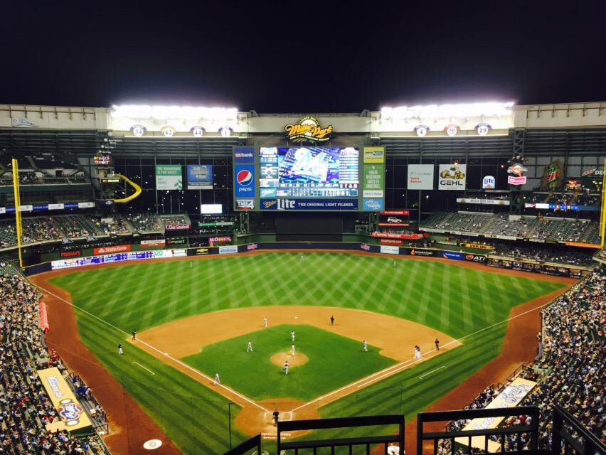 View from the terrace box seats at Miller Park. Home of the Milwaukee Brewers.