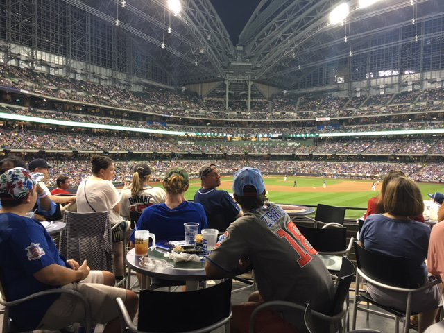 View from the Toyota Territory at Miller Park. Home of the Milwaukee Brewers.