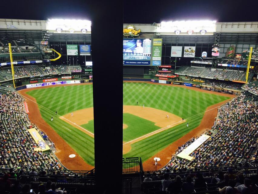 View from the Uecker seats at Miller Park. Home of the Milwaukee Brewers.