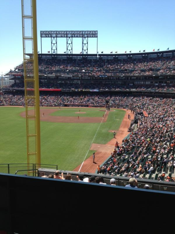 View from the Audi Suite at AT&T Park. Home of the San Francisco Giants.