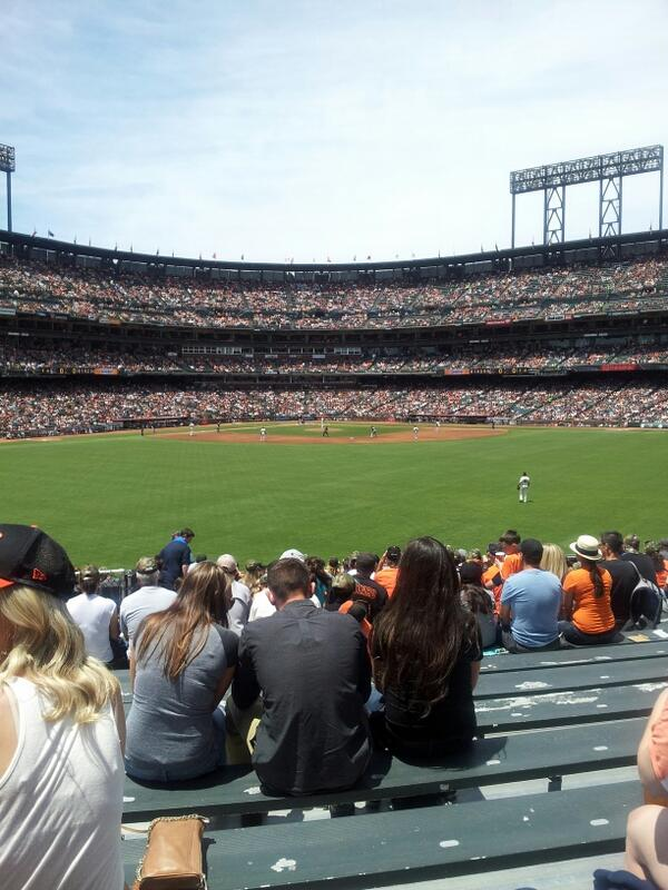 View from the bleachers at AT&T Park. Home of the San Francisco Giants.