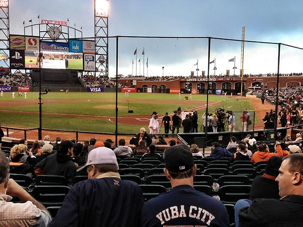 View from the Blue Shield Field Club seats at AT&T Park.