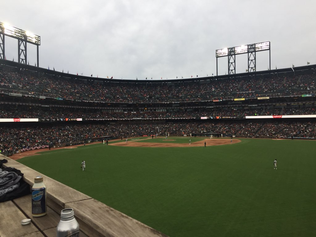 View from the Coors Light Silver Bullpen at AT&T Park. Home of the San Francisco Giants.