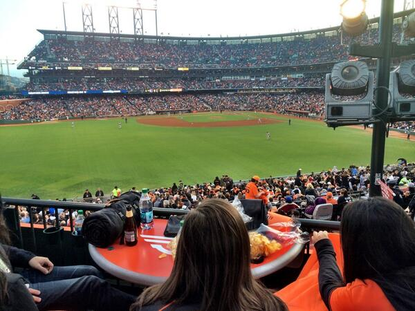 View from the Docker's Deck at AT&T Park. Home of the San Francisco Giants.