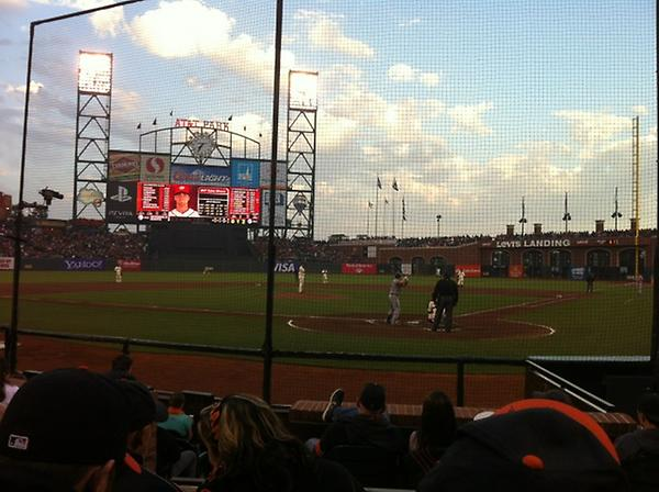 View from the Lexus Batter's Box at AT&T Park.