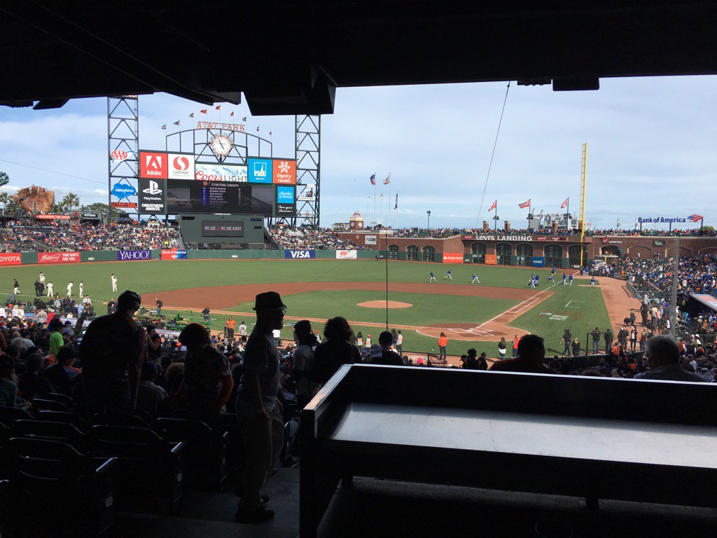 View from the Press Club Box at AT&T Park. Home of the San Francisco Giants.
