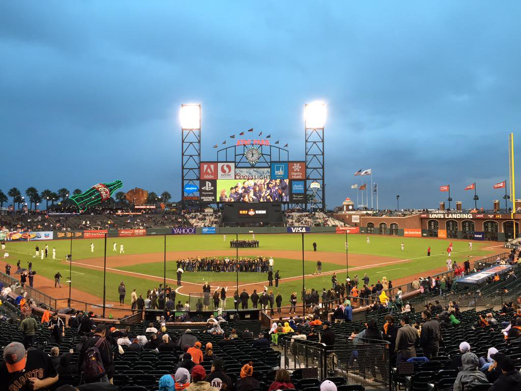 View from the Salesforce Champions Suite at AT&T Park. Home of the San Francisco Giants.