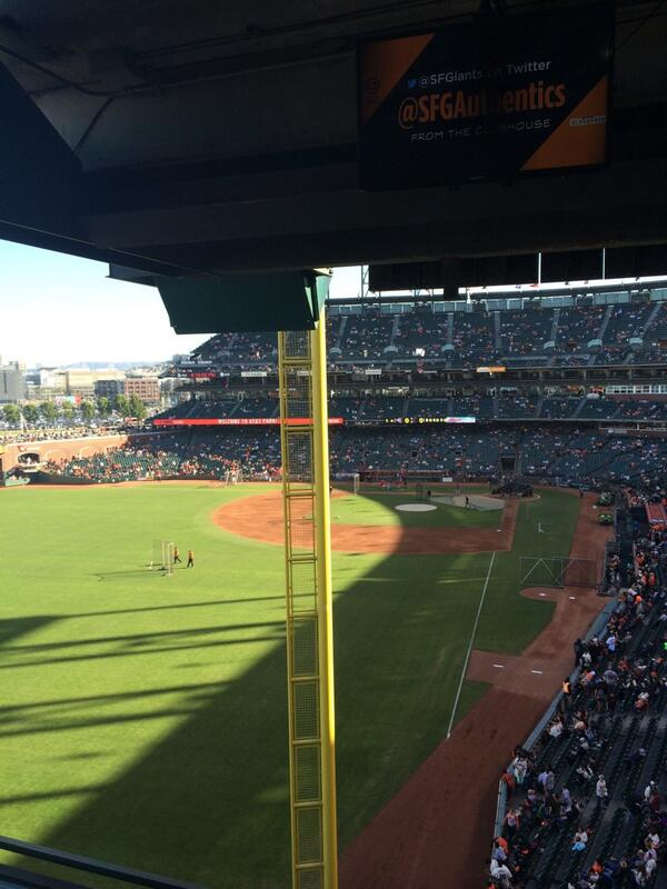 View from Suite 67 at AT&T Park. Home of the San Francisco Giants.