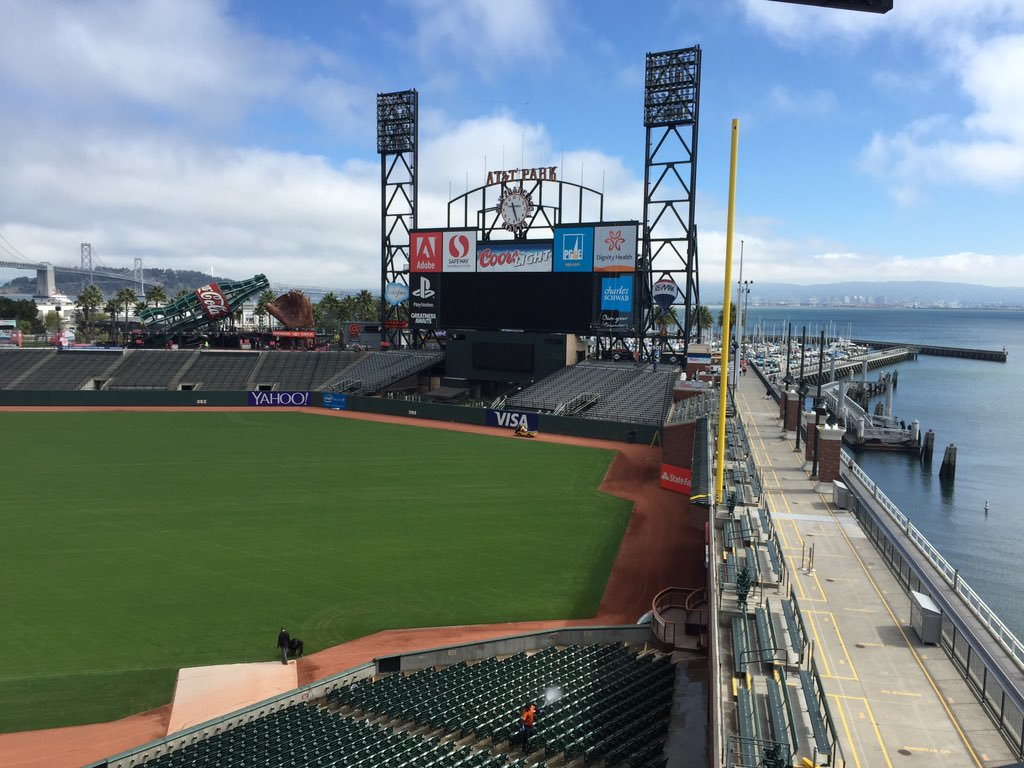 View from the Tony Bennett Suite at AT&T Park. Home of the San Francisco Giants.