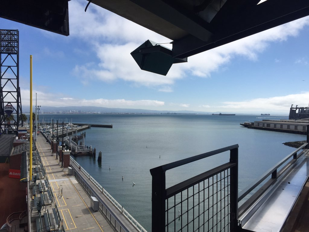 View of the McCovey Cove from the Tony Bennett Suite at AT&T Park.