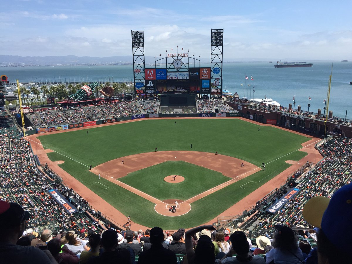 View from the view level seats at AT&T Park. Home of the San Francisco Giants.