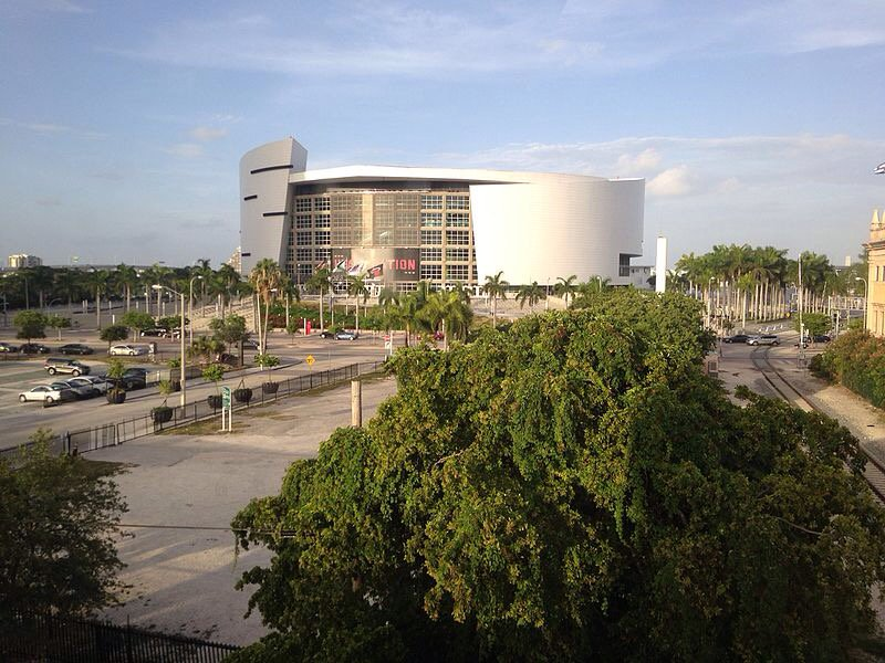 American Airlines Arena Exterior, Home of the Miami Heat