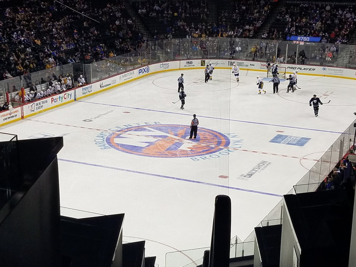 Ice at the Barclays Center during a New York Islanders home game.