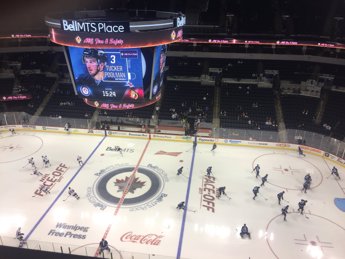 Bell MTS Place Interior shot during a Winnipeg Jets game