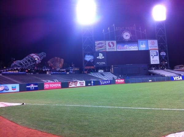 Photo of the home bullpen at AT&T Park. Home of the San Francisco Giants.