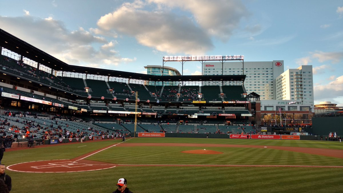 Photo of an empty Oriole Park at Camden Yards. Home of the Baltimore Orioles.