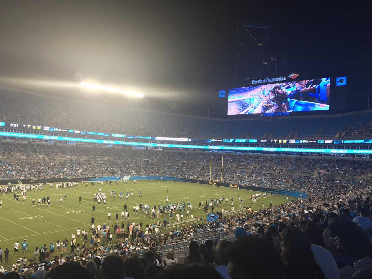 Playing Field at Bank of America Stadium, Home of the Carolina Panthers