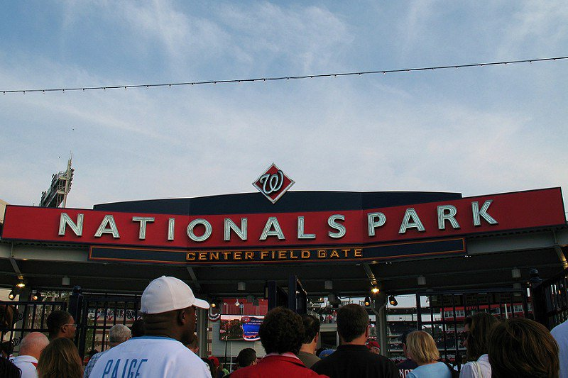 Photo of the center field gate at Nationals Park. Home of the Washington Nationals.