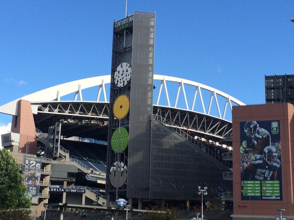 Exterior of Century Link Field, Home of the Seattle Seahawks