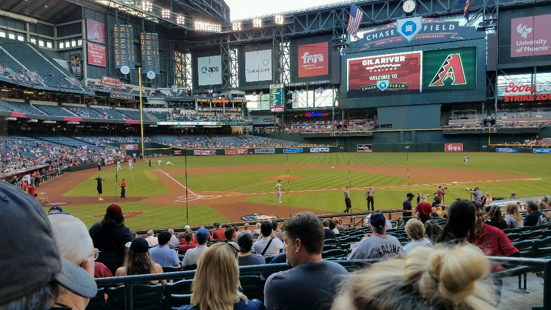 Chase Field Infield, Home of the Arizona Diamondbacks