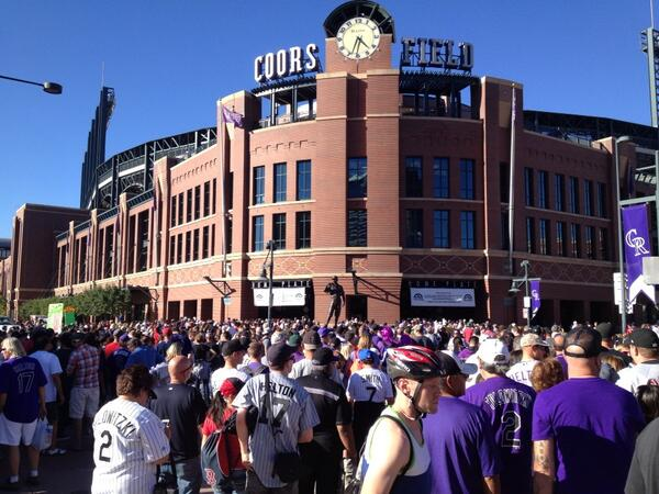 Exterior of Coors Field, Home of the Colorado Rockies