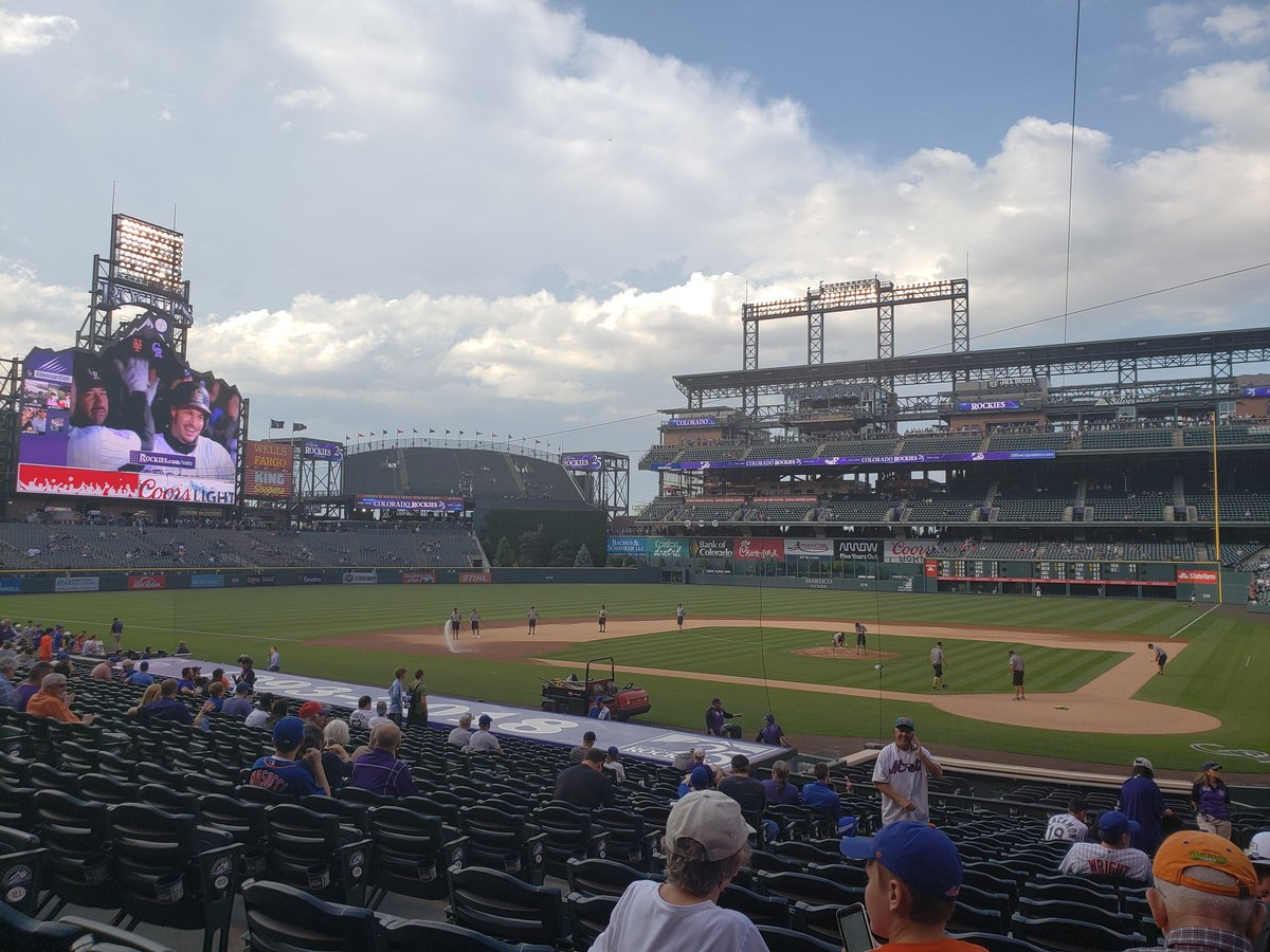 Photo of Coors Field from the infield box seats. Home of the Colorado Rockies.
